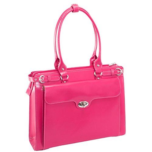 McKlein W Series, Winnetka, Genuine Cowhide Leather, Ladies' Laptop Briefcase, Fuchsia (94833)