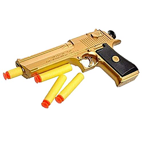 Teanfa Golden Desert Eagle Toy Foam Dart Gun Toys