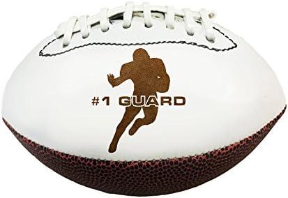 位置3dレーザー刻印Miniature Toy 7インチFootball Guard