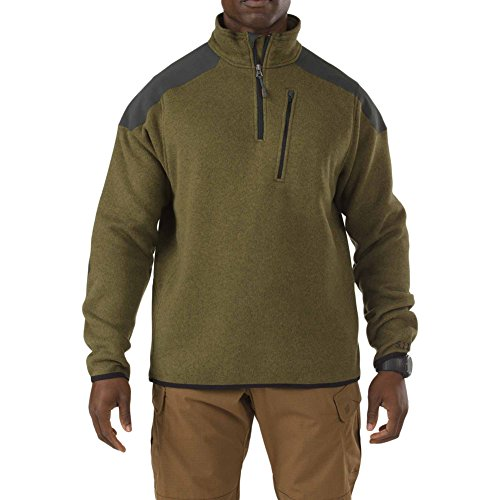 5.11 Men's Tactical Quarter Zip Sweater, Field Green, X-Larg