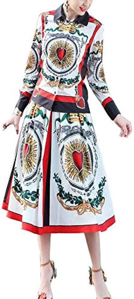 Vestido Vintage Imprimiendo para Mujer Camisa con Estampado De ...