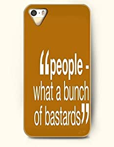 iPhone 4 4S Case OOFIT Phone Hard Case **NEW** Case with Design People What A Bunch Of Bastards- - Case for Apple iPhone 4/4s