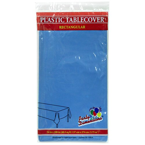 Party Dimensions Single Count Rectangular Plastic Tablecover, 54 by 108-Inch, Medium ()