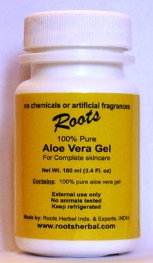100% Pure Aloe Vera Gel -- Without Chemicals and Without Additives