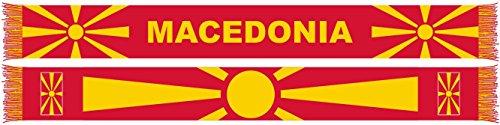 RUFFNECK National Soccer Team Macedonia Unisex-Adult International Team Scarf, One Size, Red