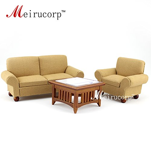 1/12 scale dollhouse miniature furniture Living room set 3 pcs (Living Miniature Room Set)
