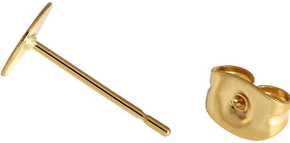 Durchmesser 3mm Healifty 50 st/ücke Edelstahl Ohrringe beitr/äge Flache pad mit Schmetterling ohrring r/ücken goldene f/ür ohrring ergebnisse