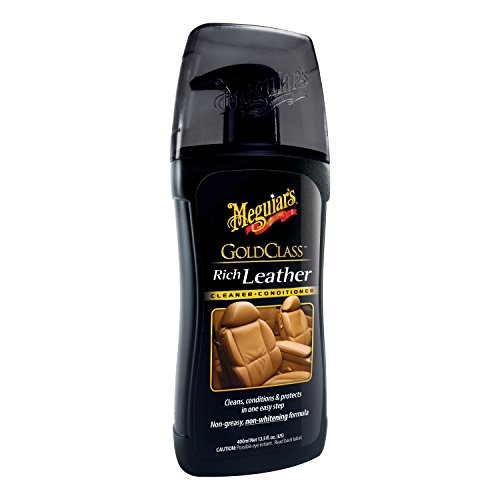 Rich Leather Aloe Cleaner (Meguiar's G17914 Gold Class Rich Leather Cleaner & Conditioner - 13.5 oz.)