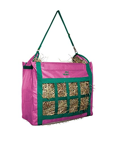 Derby Originals Supreme Nylon Top Loading Slow Feed Hay Bags Replaceable Adjustable Carry Strap