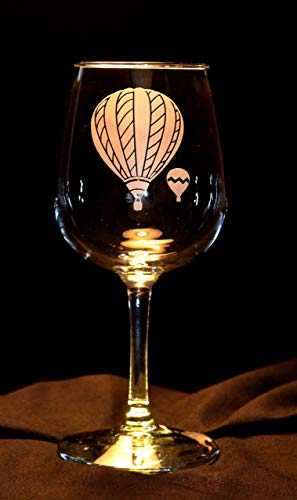 Hot Air Balloon Wine Glasses - (Set of 2)