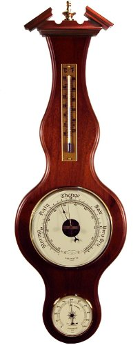 Sainlogic Banjo Barometer Thermometer Hygrometer in Deep Cherry