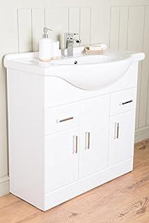 Badmöbel Badezimmermöbel Waschbecken Unterschrank Freistehend ...   {Eckwaschbecken mit unterschrank 84}