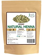 Just Jaivik 100% Organic USDA Certified Henna Powder (Lawsonia Inermis) For Hair Certified by OneCert Asia for USDA Organic Standard 227 Gms/0.5 LB/8 Oz, 100% Natural, No chemical or additive.