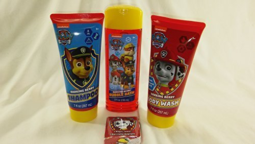 Nickelodeon Paw Patrol 4pc Bath Set. Barking Berry Bubble Bath, Shampoo & Body Wash. 1 Magic Towel by Nickelodeon