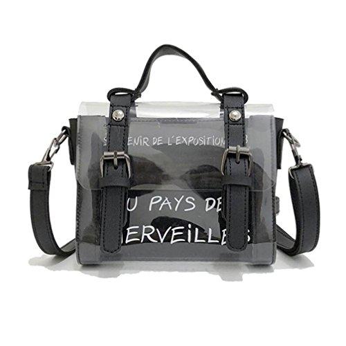 YJYDADA Mini Black Shoulder Bag Fashion Handbags Transparent Cute Bag Small Girls Black Bag Print Women T4grxqTw