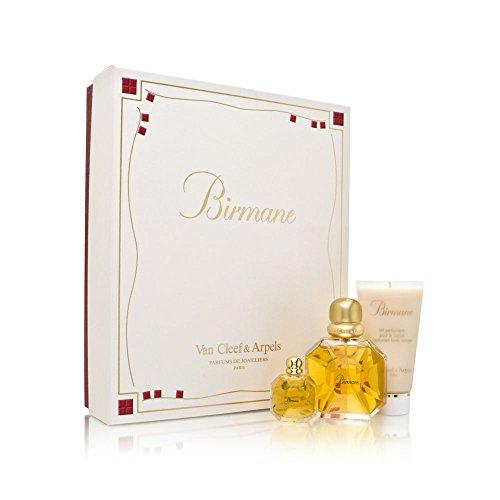 Birmane by Van Cleef And Arpels for Women 3 Piece Set Includes: 1.6 oz Eau de Toilette Spray + 1.6 oz Parfumed Body Lotion + 0.2 oz Eau de Toilette Collectible