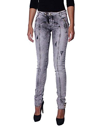 Skinny Acid Donna Grigio Balmain 28473 Pierre Da 900 Jeans 7m7000 Washed Super wIt0Oqpt