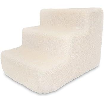 Best Pet Supplies ST220T-S Foam Pet Stairs/Steps, 3-Step, Lambswool