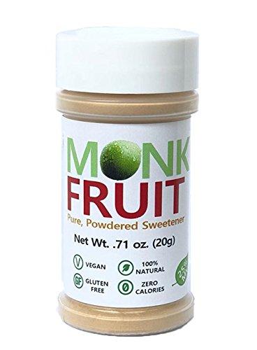 Pure Monk Fruit - Zero Calorie, Zero Carb, Paleo Safe Sweetener (25% Mogroside V, 20g)