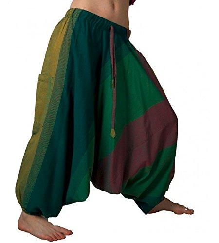 Pantaloni al Damen pumphose e rock aladi magia Pantaloni Hose Pantaloni Arte harem pluder shalwar Multicolore q0Iw0dx