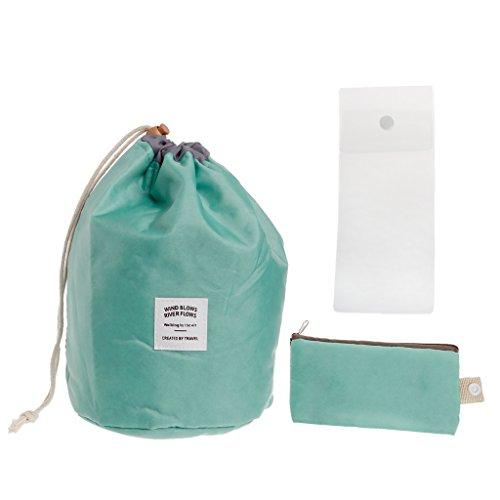 AISme Travel Cosmetic Nylon Bag Wash Makeup Organizer Storage Travel Bag High Capacity (Blue)