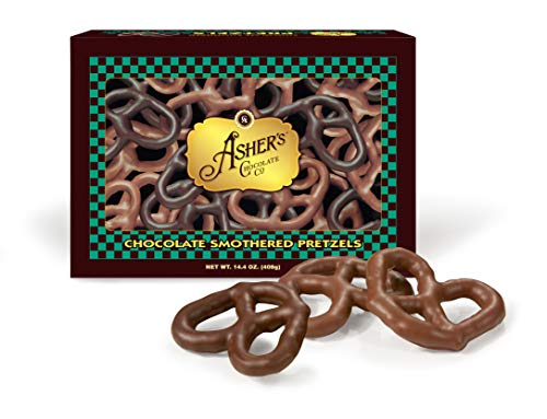 Asher Pretzels Chocolate (Asher's Milk & Dark Chocolate Covered Pretzels)