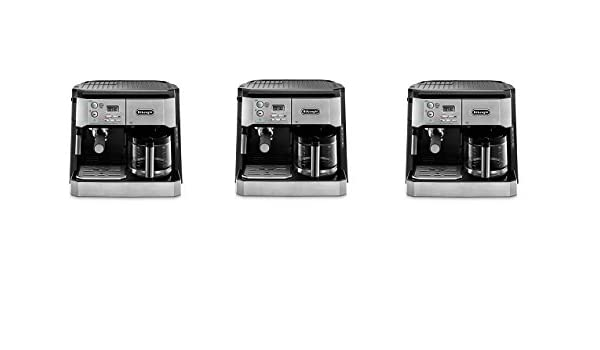 Amazon.com: DeLonghi BCO430 Combination Pump Espresso and 10-cup Drip Coffee Machine with Frothing Wand, Silver and Black (3-(Pack)): Kitchen & Dining