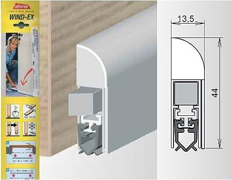 Athme Wind-EX - Junta de puerta automática para puertas interiores (plata anodizada, 1110 mm)