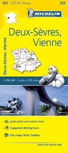 Michelin FRANCE: Deux-Sèvres, Vienne Map 322 (Maps/Local (Michelin))