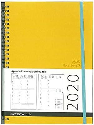 Agenda semanal, planificador de mesa 2020 297 x 105 mm. Safian ...