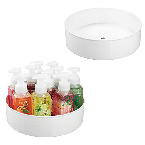mDesign Plastic Spinning Lazy Susan Turntable Storage Tray - Rotating Organizer for Bathroom Vanity Counter Tops, Under Sink, Closets, Dressers - 11.5
