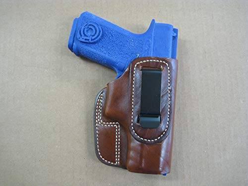 Polymer 80 Poly 80 IWB in The Waist Band Leather Concealed Carry Holster CCW TAN -