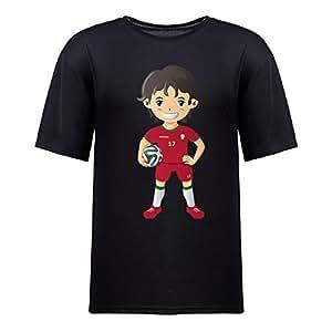 Custom Mens Cotton Short Sleeve Round Neck T-shirt,2014 Brazil FIFA World Cup UP72 black