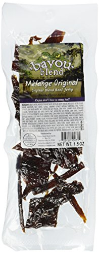 Bayou Blend Cajun Style Gourmet Beef Jerky - Premium Quality Lean Beef - High Protein Healthy Meat Snack - Choose From 4 Awesome Flavors (Mélange Original 15 Oz)