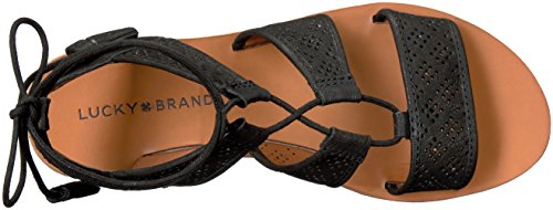 Brenny US Black Medium Sandal 7 Women's Lucky Brand ERq0HH