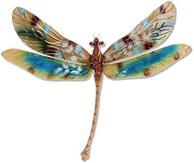Eangee Home Design Dragonfly Wall Decor Golds And Aqua 16 Inches Length x 1 Inch Width x 8 Inches Height inches m4001