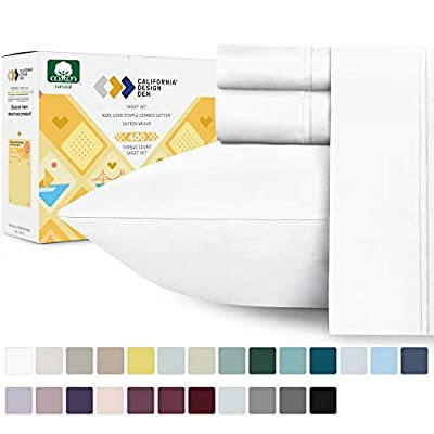 Best 100 percent pure cotton bed sheets 2020 (California Design Den)