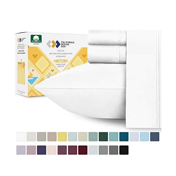 Best 100 percent pure cotton bed sheets 2020 (California Design Den)