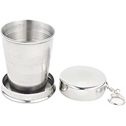 CKB Products Wholesale Telescopic Collapsible Stainless Steel Shot Glass Key Ring in Gift Box