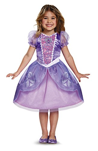 Princess Sofia Costume (Next Chapter Classic Sofia The First Disney Junior Costume, Medium/3T-4T)
