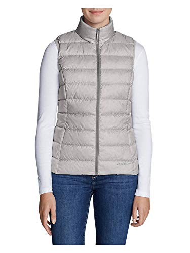(Eddie Bauer Women's CirrusLite Down Vest, Lt Gray Regular M)
