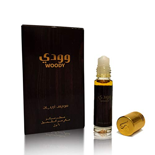WOODY, Roll On Perfume Oil 6 mL (.2 oz) | Oriental Fragrance for Men and Women | Floral, Fruity, Woody Notes | Alcohol Free Attar, Vegan Parfum | by Oudh Artisan Swiss Arabian