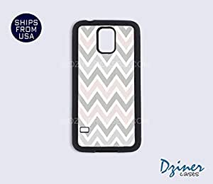 Galaxy S4 Case - Pink grey Chevron