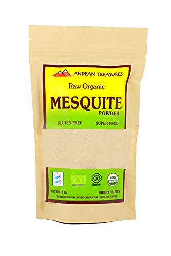 USDA ORGANIC PERUVIAN MESQUITE POWDER 8oz (PACK OF 2) Kosher - SUPERFOOD (algarrobo)