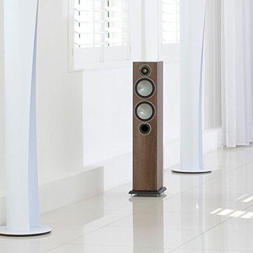 - Monitor Audio Bronze Series 5 2 1/2 Way Floorstanding Speaker - Each - Walnut