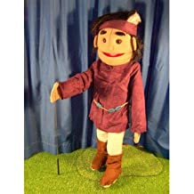 Sunny Toys GS4587 28 In. American Indian Boy Feather, Full Body Puppet