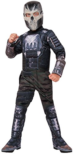 [Rubie's Costume Captain America: Civil War Crossbones Deluxe Muscle Chest Child Costume, Large] (Black Panther Costume Marvel)
