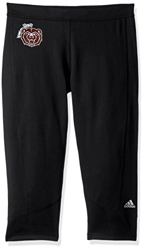 adidas Adult Women Team Logo Techfit Solid 3/4 Tight, Black, Large ()