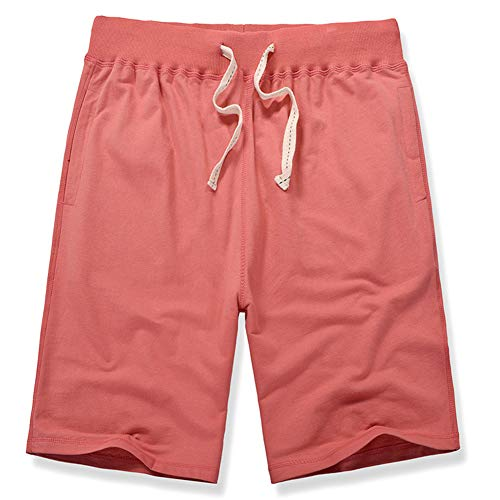 XinDao Women's Plus Size Upgraded Version Soft Knitted Elastic Waist Casual Bermuda Shorts with Drawstring Watermelon Red US 14=M/EUR S ()