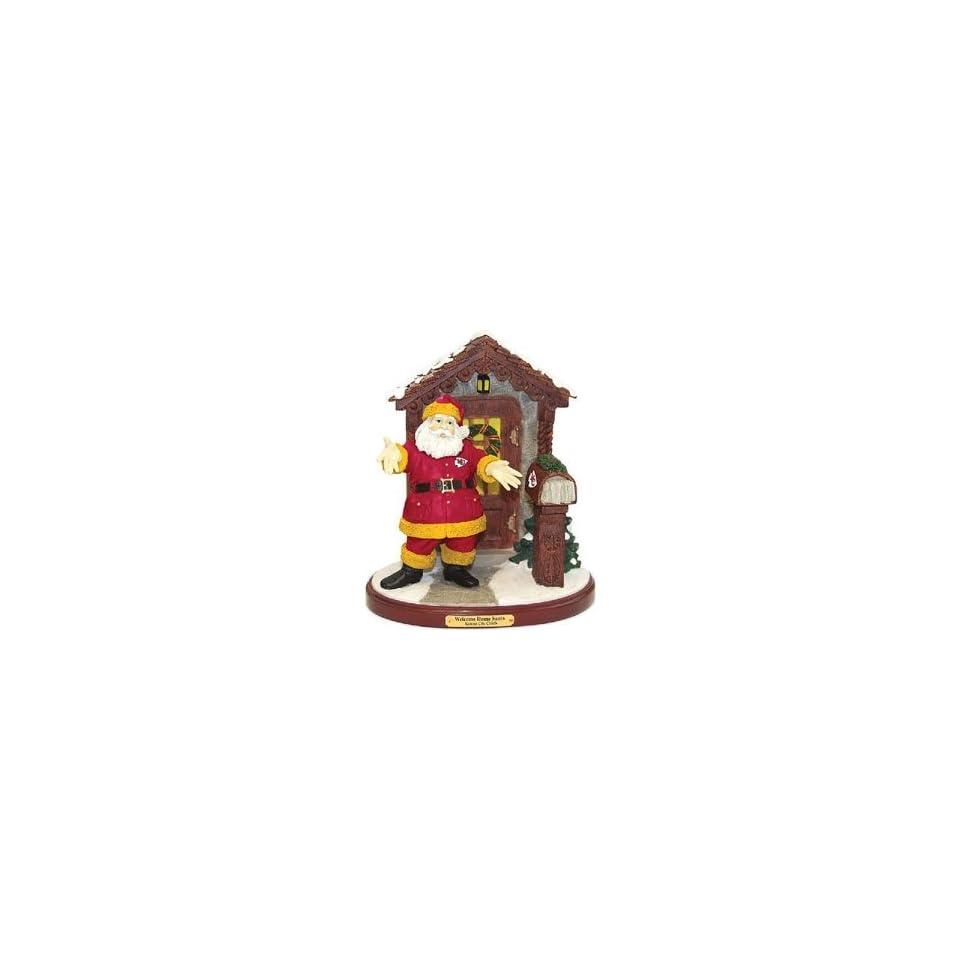 Kansas City Chiefs NFL Welcome Home Santa Figurine